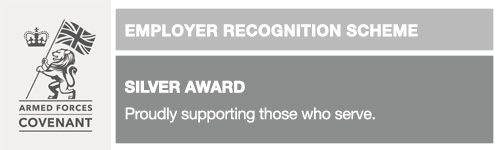 Armed Forces Covenant: Employer Recognition Scheme - Silver Award